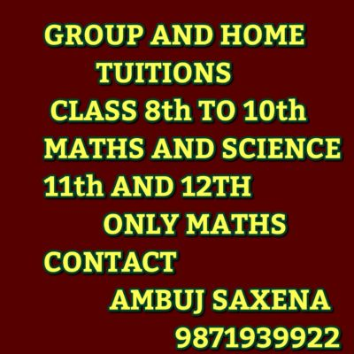 Group and Home Tuitions in Noida – Ambuj Saxena